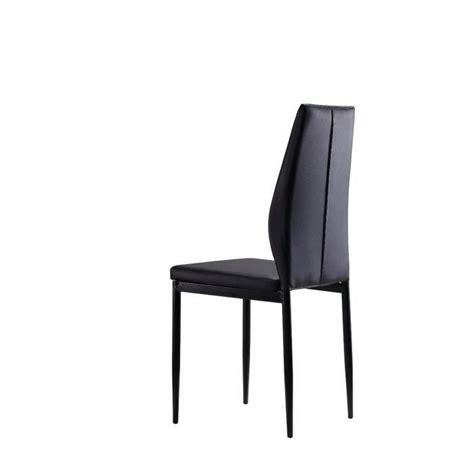 lot 6 chaises noires lot de 6 chaises noires raul achat vente chaise salle a