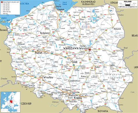 maps  poland map library maps   world