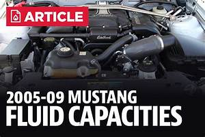 Ford Mustang Fluid Capacities