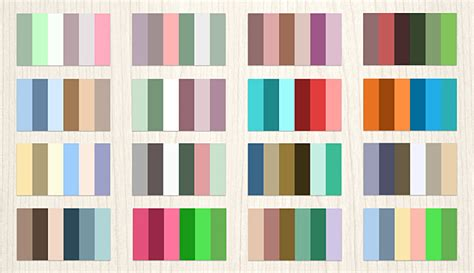 Collection Of Color Palettes Photoshop For Ui Designs