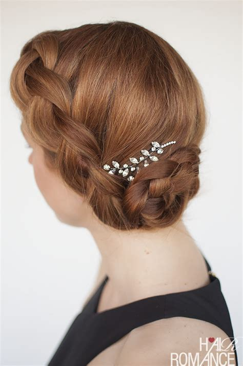 Try this DIY braided updo for your next formal event (or