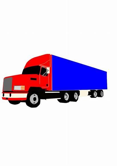 Wheeler Truck Clip Semi Trucker Svg Vector