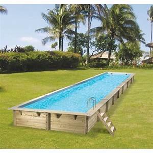 Piscine Bois Ubbink : piscine bois rectangulaire 350x1550cm linea toute quip e ~ Mglfilm.com Idées de Décoration