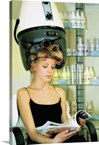 mid adult woman  rollers   hair   hair