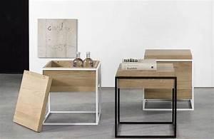 Table De Chevet Blanc Et Bois : 44 id es d co de table de nuit ~ Teatrodelosmanantiales.com Idées de Décoration