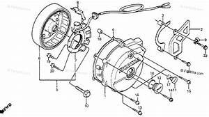 Honda Motorcycle 1985 Oem Parts Diagram For Left Crankcase