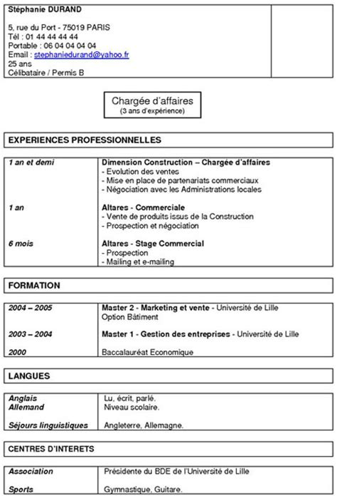 Rediger Un Cv by Rediger Un Cv Et Imprimer