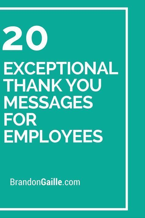 exceptional   messages  employees
