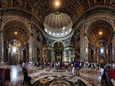 cupola vaticano baldacchino di san pietro e la cupola di michelangelo bas