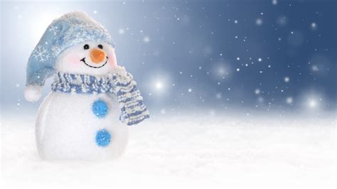 wallpaper snowman snowfall winter  celebrations