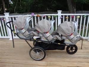 Triple Decker Triplet Stroller
