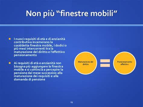 finestra mobile pensioni guida sintetica riforma pensioni