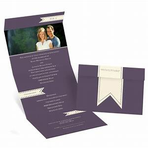 ribbon tabs seal and send invitation invitations by dawn With all in one wedding invitations reviews