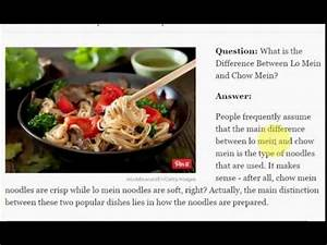 What is the Difference Between Lo Mein and Chow Mein - YouTube