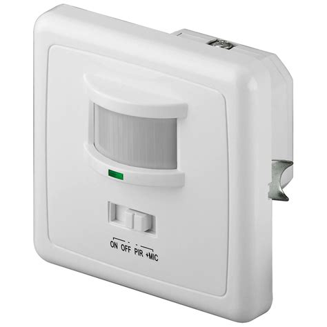 bewegungsmelder licht innen infrarot bewegungsmelder akkustik melder schalter an aus unterputz innenraum ip20