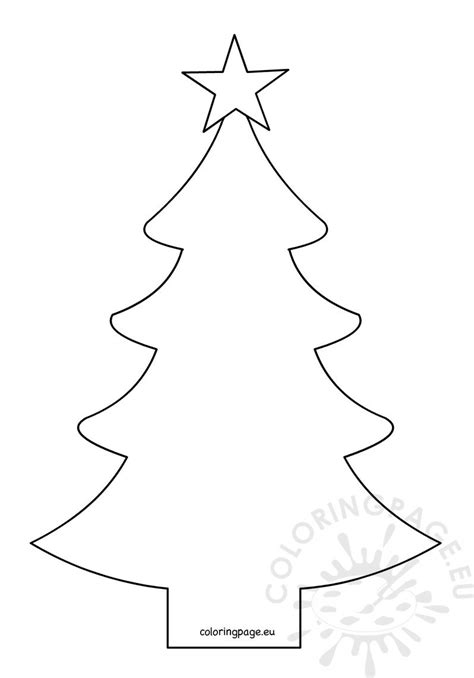 Christmas tree shape with fivepointed star – Coloring Page