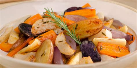Garlic And Rosemary Roasted Root Vegetables Recipes Food