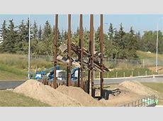 Public art being installed at new TransCanada interchange