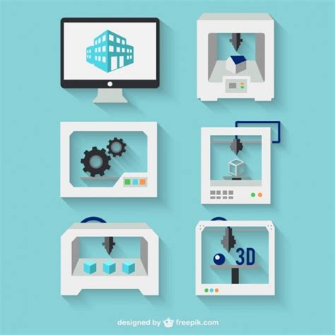 D Printing Concept Vector