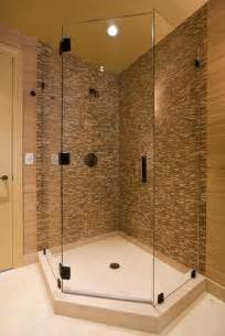 small guest bathroom ideas how can corner shower save space bath decors