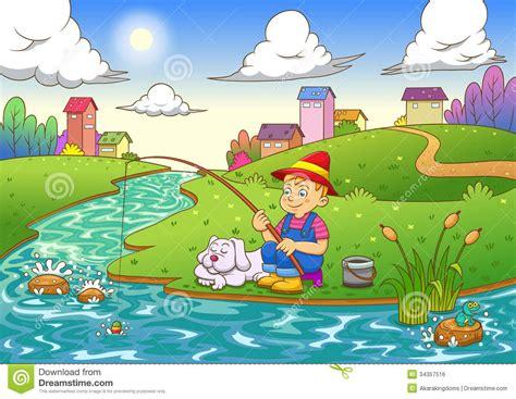Fishing River Clipart