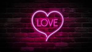 Glowing Neon Hearts Seamless Loop Background Stock Footage