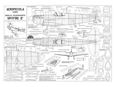spitfire ii plan thumbnail balsa wood model airplane plans pinterest model airplanes