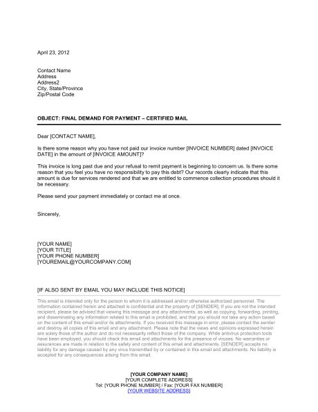 demand for payment letter inspirational demand for payment letter cover letter 11445