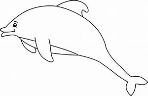 Black and White Dolphin Clip Art - Black and White Dolphin ...