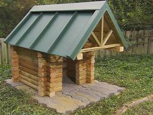 How to Build a Log Cabin Doghouse how-tos DIY