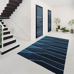 tapis contemporain vegas bleu par arte espina With tapis d escalier contemporain