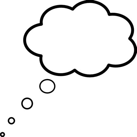 Thought Clipart Cloud Thought Scaled Clip At Clker Vector Clip