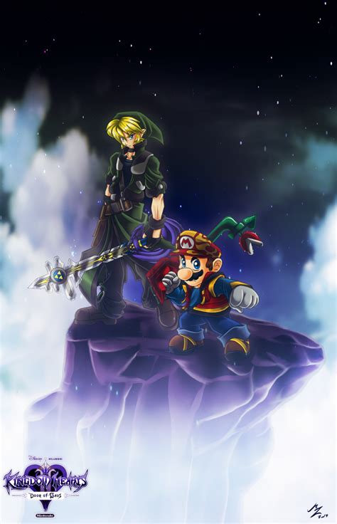 Link Mario Master Keyblade By Mauroz On Deviantart