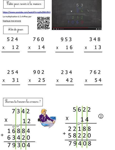 Multiplication à 2 Chiffres  Le Blog De Monsieur Mathieu