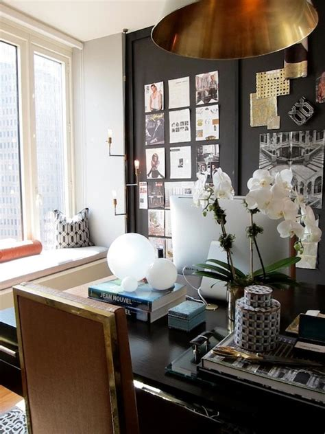 Black Accent Wall  Contemporary  Denlibraryoffice