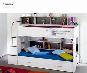 Lit Superposé Escalier : lit superpos promo ~ Premium-room.com Idées de Décoration