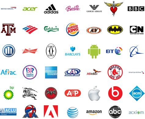 The Famous Brands And Company Logos In The World