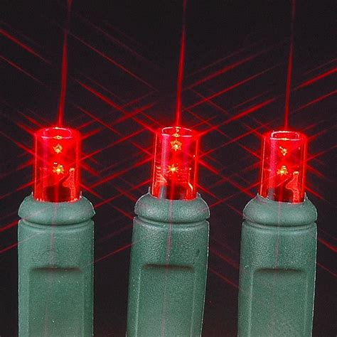 20 light red led christmas light set non connectable