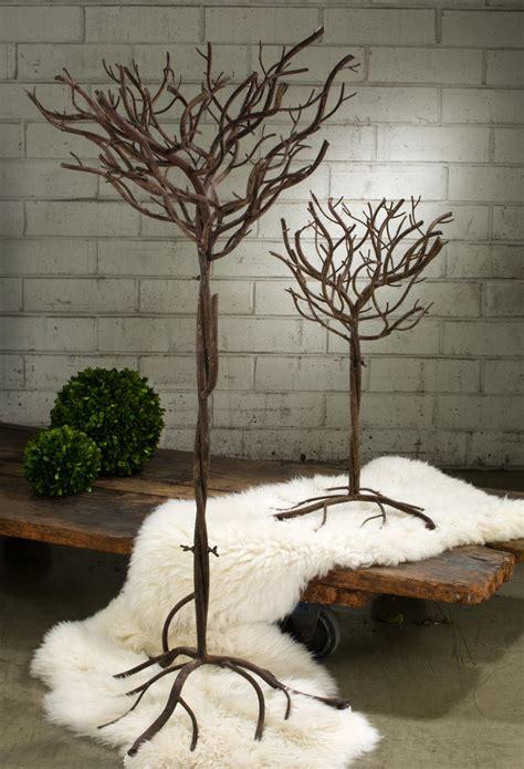 brown natural metal trees tripar international