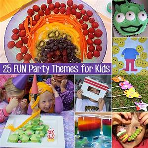25 Super Fun Kids Party Themes for Children 6 Years and Under