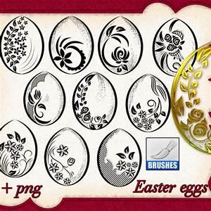 Easter Eggs Brushes - Photoshop brushes