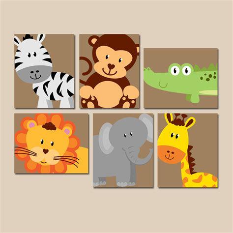 safari animal wall animal nursery artwork zoo jungle