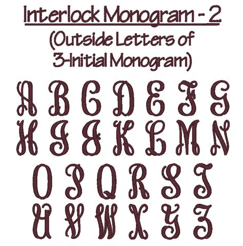 monogram truetype fonts images interlocking vine monogram font  monogram fonts