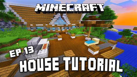 minecraft tutorial modern house deck design  exte