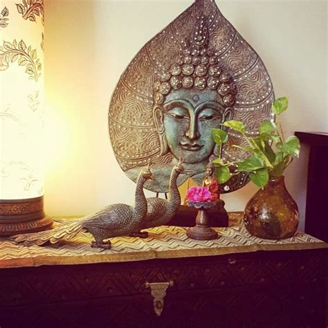 buddha oriented living room decoration ideas