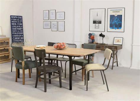 cuisine style atelier industriel table style industriel en bois et metal