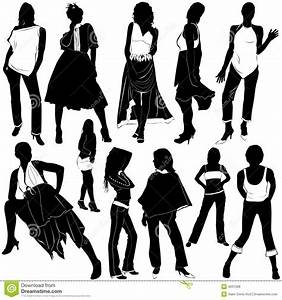 Fashion women vector 3 stock vector. Image of shoes, girl ...