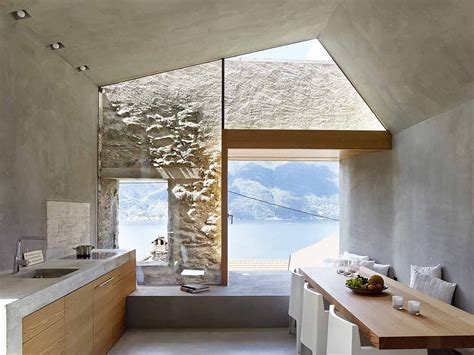 Modern Makeover Of An Old Stone House With Views Of Lake