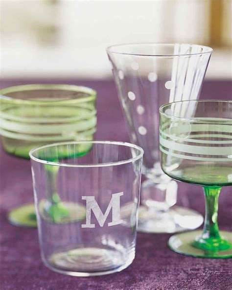 etched glass martha stewart
