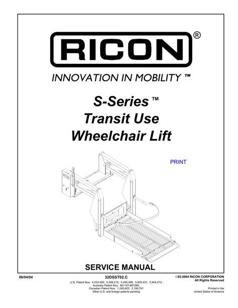 ricon s series lift wiring diagram 34 wiring diagram